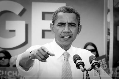 Barack Obama visits Charlotte