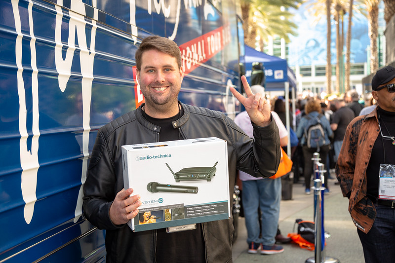 2019_01_24, Anaheim, Bus, CA, Exterior, Giveaway, Giveaways, NAMM, Audio-Technica