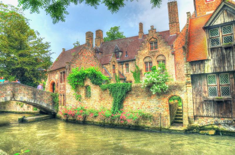 "Our guidebook called this ""Picturesque Bridge""…ya think???? - Bruges, Belgium."