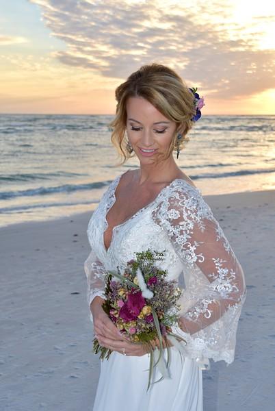 Beautiful intimate wedding at Lido Beach, FL