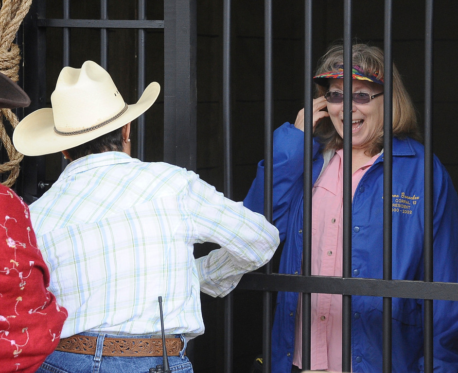 . Giving a donation you could have anyone put in jail during the 2013 Chatsworth\'s 10th Annual Day of the Horse celebration. This event will also celebrate Chatsworth\'s 125th birthday  April 14,2013. Chatsworth CA. Photo by Gene Blevins/LA Daily News