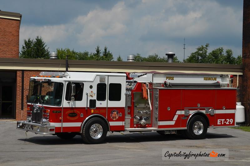 Mahaffey Fire Co. (Clearfield Co.) Engine Tanker 29: 1995 HME/Luverne 1500/1500 (X-Bally/Eastern Berks, PA)