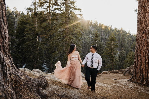 Victoria and James | Big Bear Engagement