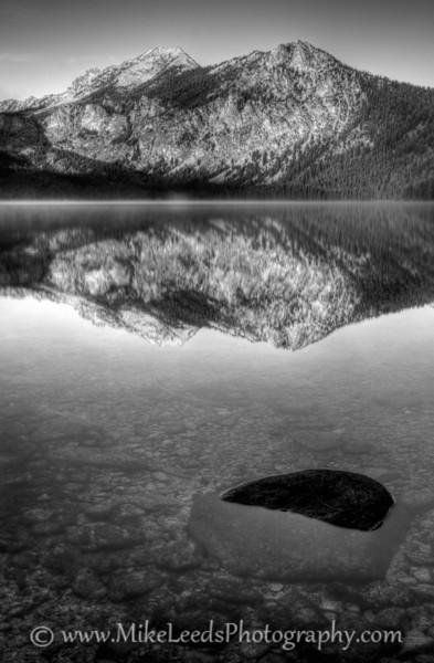 Petit Lake, Sawtooth Mountains in Idaho.