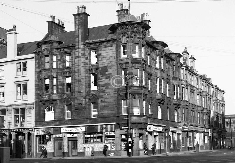 Bridge St and Norfolk St.   Stevenson Taylor corner, now The Glaswegian.    September 1973