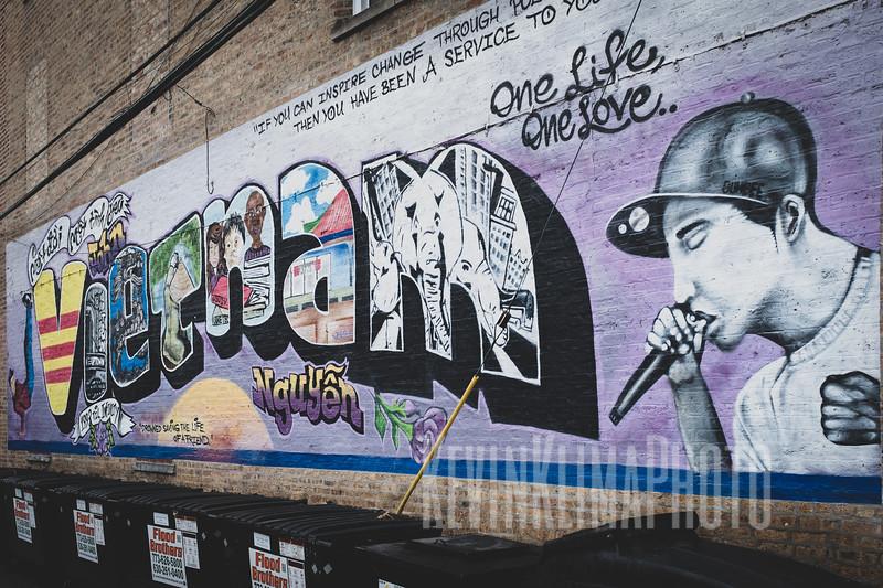 Vietnam Mural in Uptown, Chicago