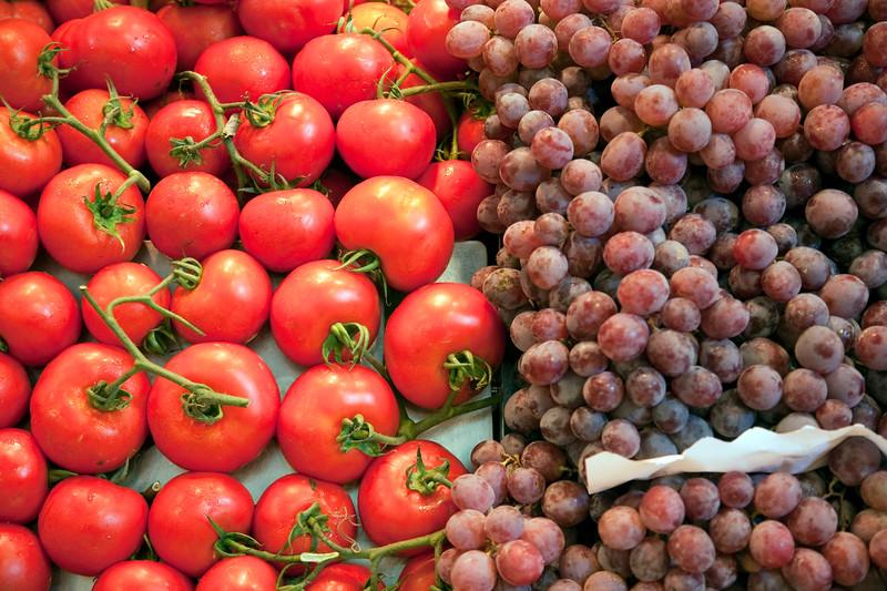 Tomates y uvas, Mecado de la Boquería, Barcelona