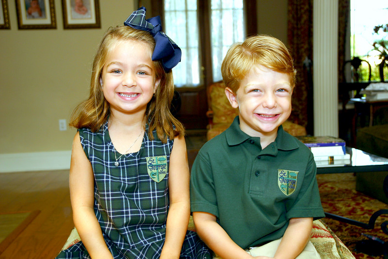 Kate and Harry's first day of Kindergarten.