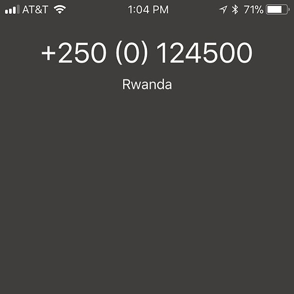 The spam phone calls are really getting out of control....