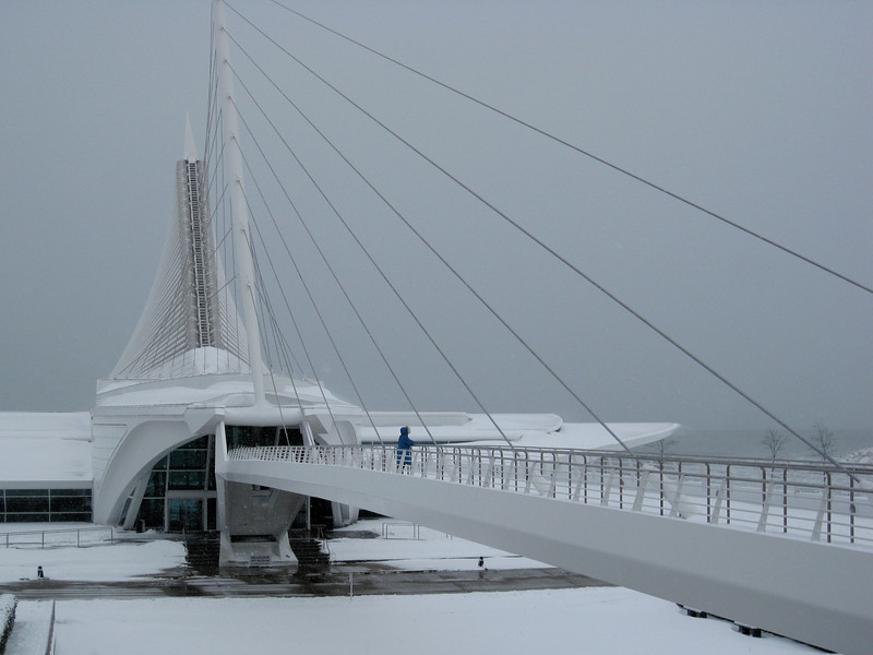 The Milwaukee Art Museum (during a snowfall). Taken with my tiny, trusty Canon SD770 P&S.