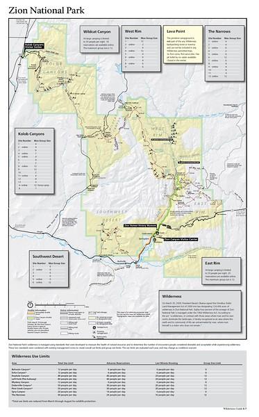 Zion National Park (Wilderness Map)