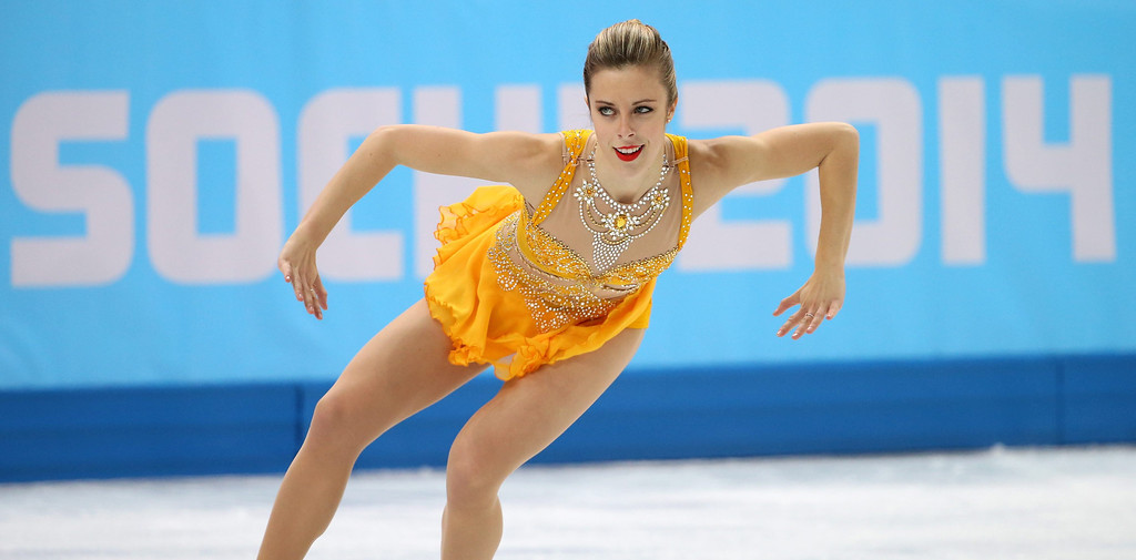 . Ashley Wagner of the USA performs in the Women\'s Free Skating Figure Skating event at Iceberg Skating Palace during the Sochi 2014 Olympic Games, Sochi, Russia, 20 February 2014.  EPA/HOW HWEE YOUNG