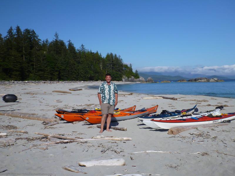 Sean at Jakobsen point on the Brooks Peninsula