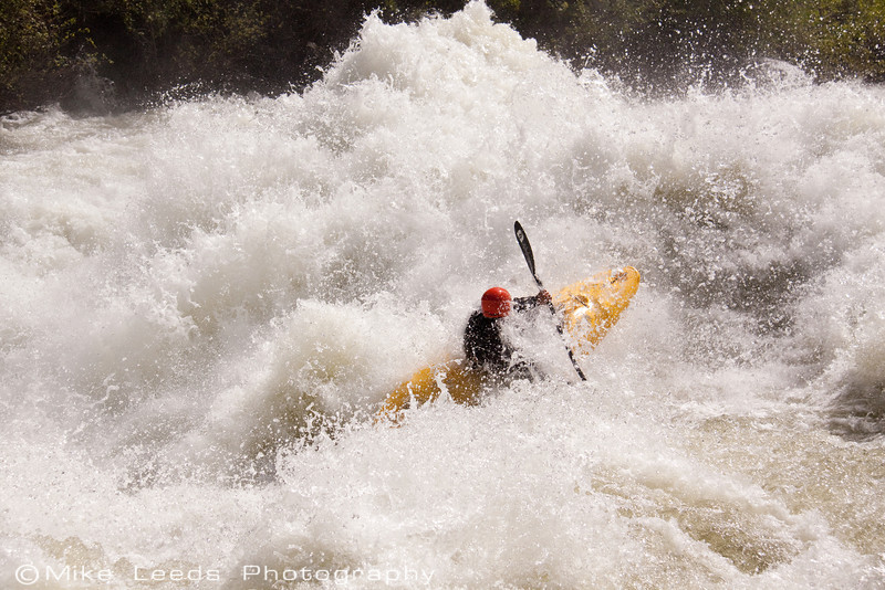 "Paddler Brian Ward in ""Nutcracker"" on the North Fork Payette River, Idaho. approx 7,000cfs"