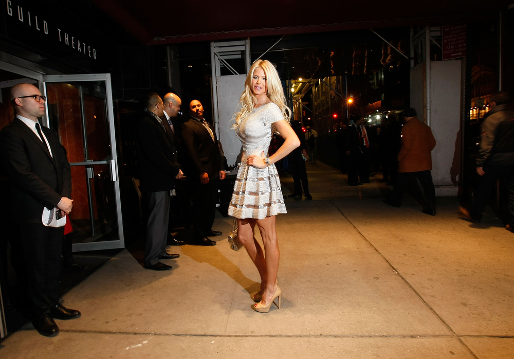 ". Model Victoria Silvstedt attends the Gucci and The Cinema Society screening of ""Oz the Great and Powerful\"" at the DGA Theater on March 5, 2013 in New York City.  (Photo by Jemal Countess/Getty Images)"