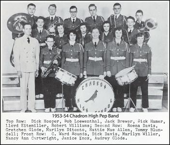 1953-54 Chadron High School Pep Band