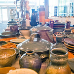 Ceramics at pottery sale