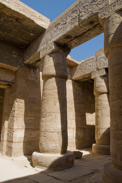 Pillars at the Karnak Temple - Luxor, Egypt