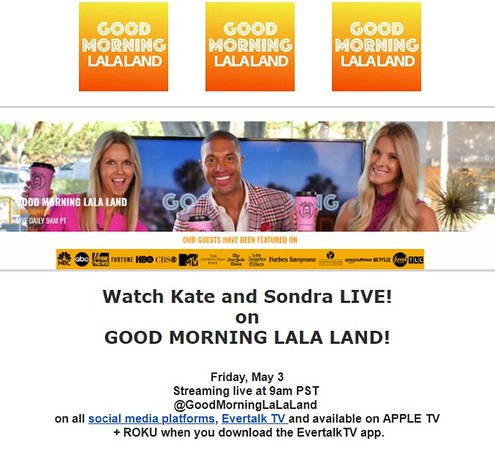 Good Morning LALA Land - Live Morning Talk Show - West Hollywood - Hair By British Hair Company - 2019