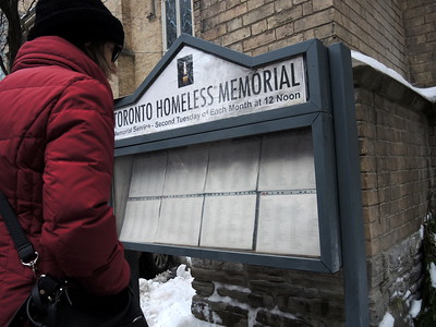Homeless Memorial Vigil - January 2018
