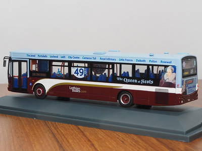 Corgi OOC OM46014B Lothian Buses Volvo B7RLE Eclipse route 49 to The Jewel 'Mary Queen of Scots'