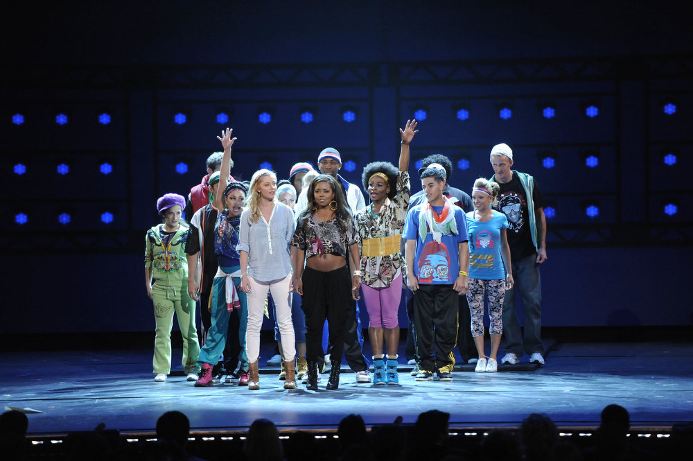 ". Casts of Broadway\'s ""Bring it On\""  perform at the 67th Annual Tony Awards, on Sunday, June 9, 2013 in New York.  (Photo by Evan Agostini/Invision/AP)"