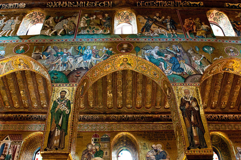 mossaic chapel inside the Royal Palace Palermo, Italy