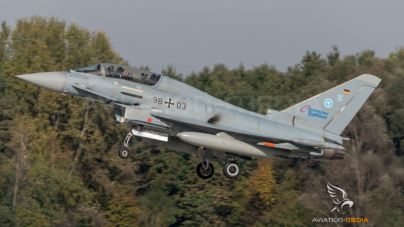 German Air Force WTD-61 / Eurofighter Typhoon / 98+03