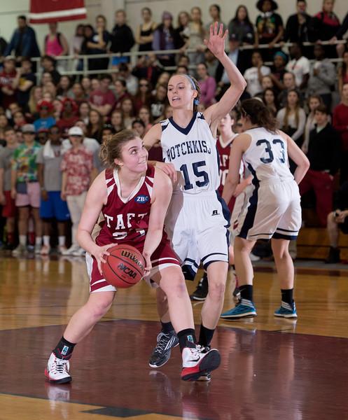 3/6/15: Girls' varsity Basketball v Hotchkiss