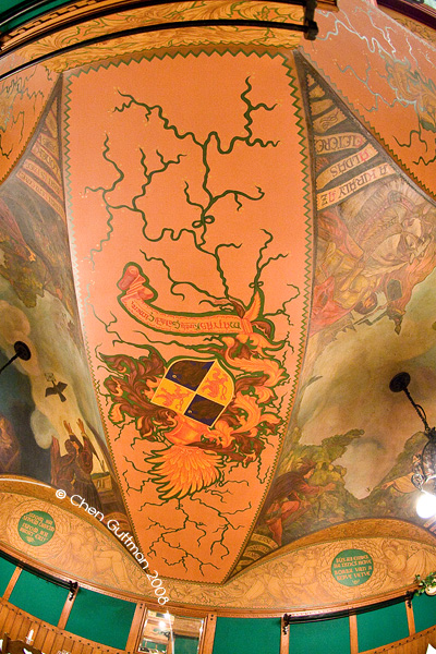 The ceiling at Matyas Pince.