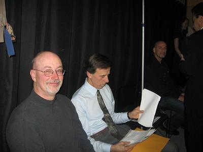 Backstage on December 7, 2012