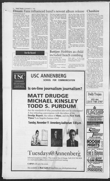 Daily Trojan, Vol. 132, No. 52, November 11, 1997