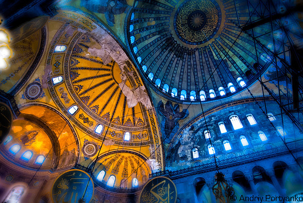 "Hagia Sophia (/ˈhɑːɪə soʊˈfiːə/; from the Greek: Ἁγία Σοφία [aˈʝia soˈfia], ""Holy Wisdom""; Latin: Sancta Sophia or Sancta Sapientia; Turkish: Ayasofya) is a former Orthodox patriarchal basilica, later a mosque, and now a museum in Istanbul, Turkey. From the date of its dedication in 360 until 1453, it served as an Eastern Orthodox cathedral and seat of the Patriarchate of Constantinople,[1] except between 1204 and 1261, when it was converted to a Roman Catholic cathedral under the Latin Empire. The building was a mosque from 29 May 1453 until 1931, when it was secularized. It was opened as a museum on 1 February 1935.[2] Wikipedia"
