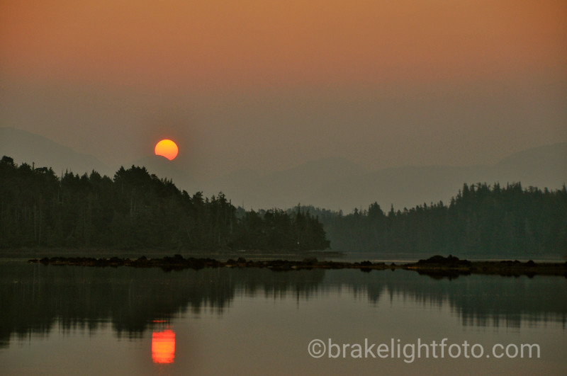 Smokey Sunrise over Higgins Passage