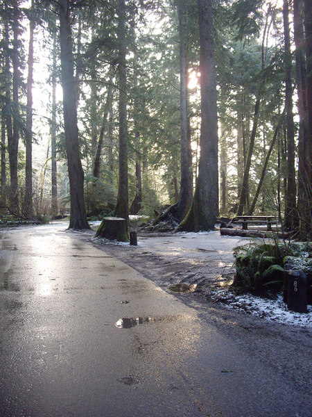 The campground on Friday morning.