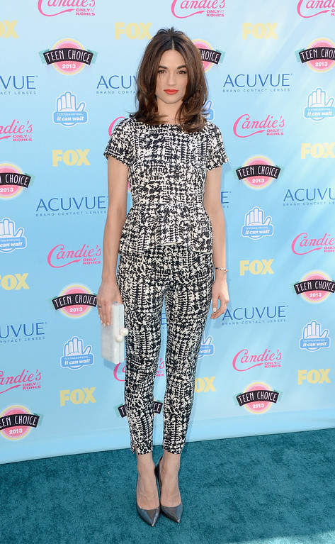. Actress Crystal Reed attends the Teen Choice Awards 2013 at Gibson Amphitheatre on August 11, 2013 in Universal City, California.  (Photo by Jason Merritt/Getty Images)