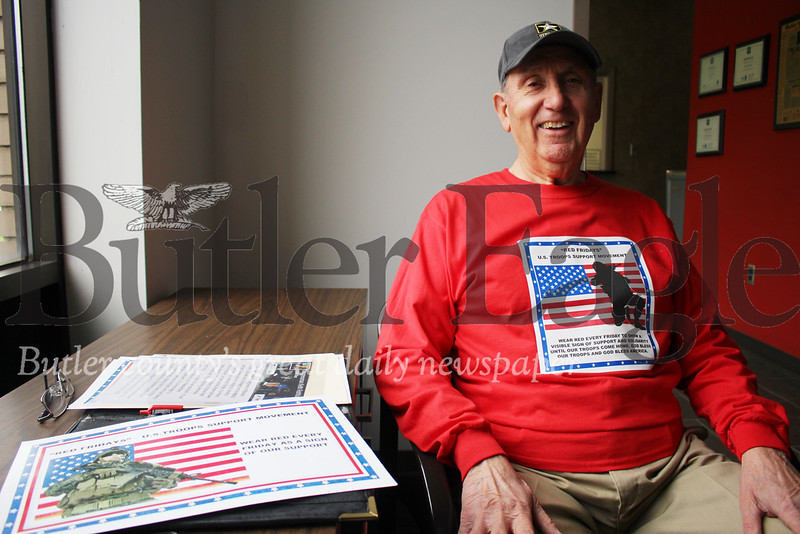 Clad in a red T-shirt and carrying a bag of signs and literature, army veteran William Piocquidio is on his last mission.