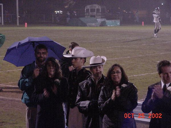 2002-10-25: Football - Senior Night