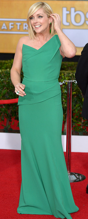 . Jane Krakowski arrives at the 20th Annual Screen Actors Guild Awards  at the Shrine Auditorium in Los Angeles, California on Saturday January 18, 2014 (Photo by Michael Owen Baker / Los Angeles Daily News)