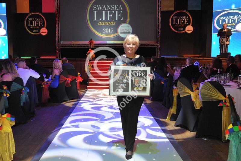 Swansea Life Awards 2017 Brangwyn Hall, Swansea Lifetime Achievement Lynne Kettles