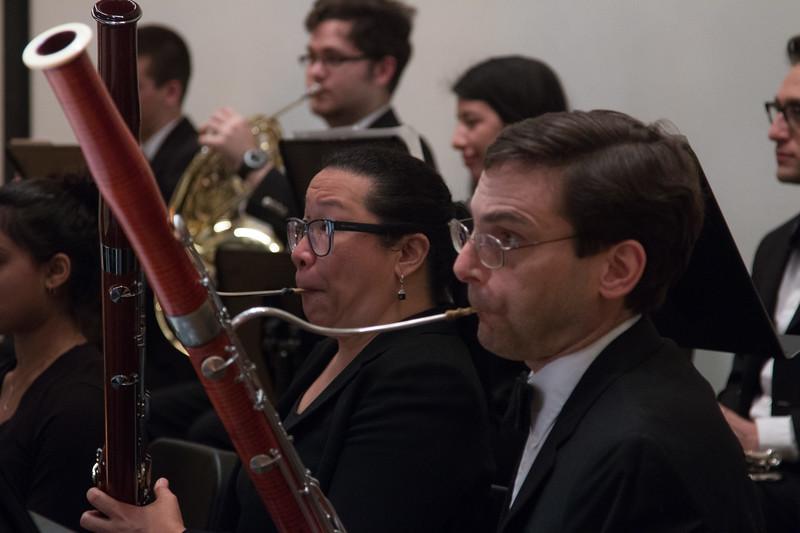 Melissa Feliciano, Dan Reich, bassoons -- Hopkins Symphony Orchestra, April 2017