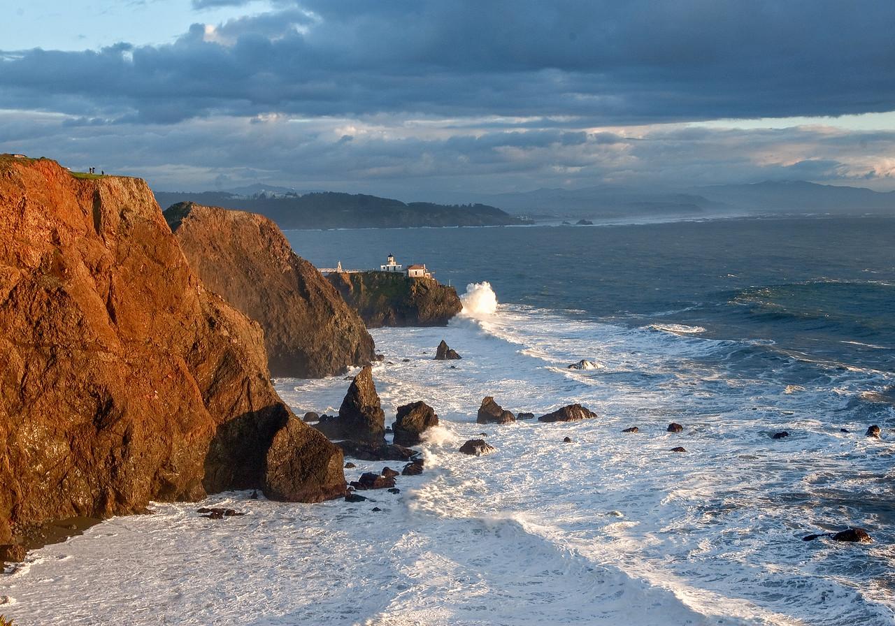 Point Bonita Lighthouse at Entrance to San Francisco Bay  #KW-22