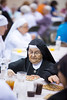 Sister Alicia Restrepo S de M (Sister Servants of Mary) at the Religious Sisters Appreciation Day 2014 at St. Patrick's on 8/17/14.<br /> Playing Bingo -- checking bingo numbers.
