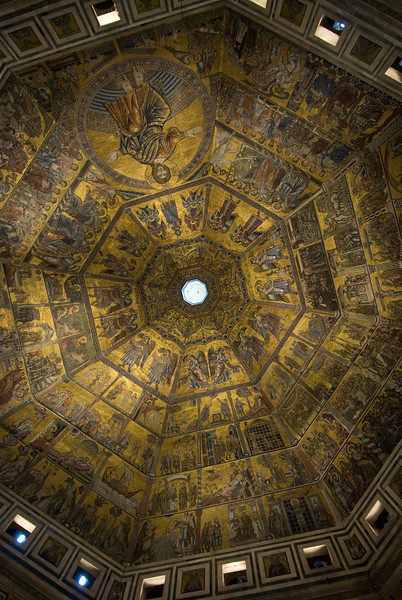 View from inside the dome of Florence Cathedral - Florence, Italy
