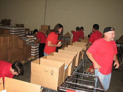 Working at the Food Bank 4/30/11