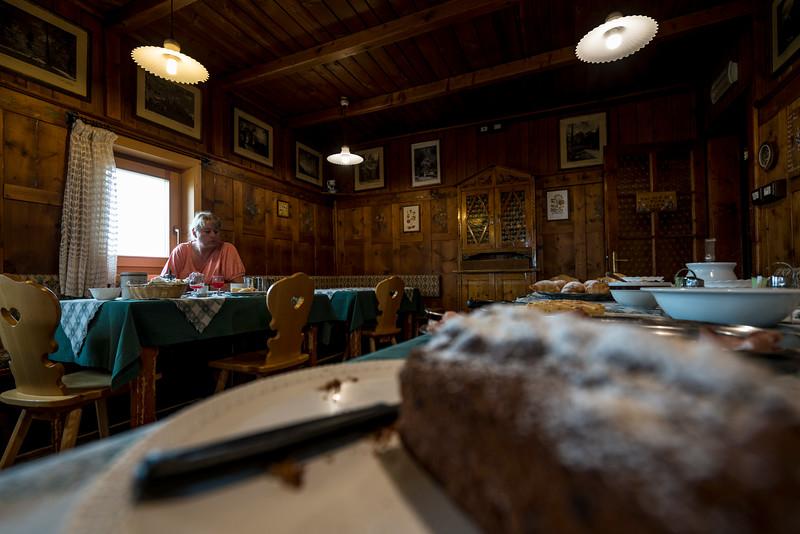 Breakfast at Capanna Cervino