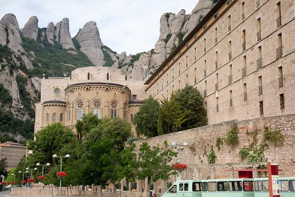 Montserrat Monastery Barcelona Spain - July, 2016