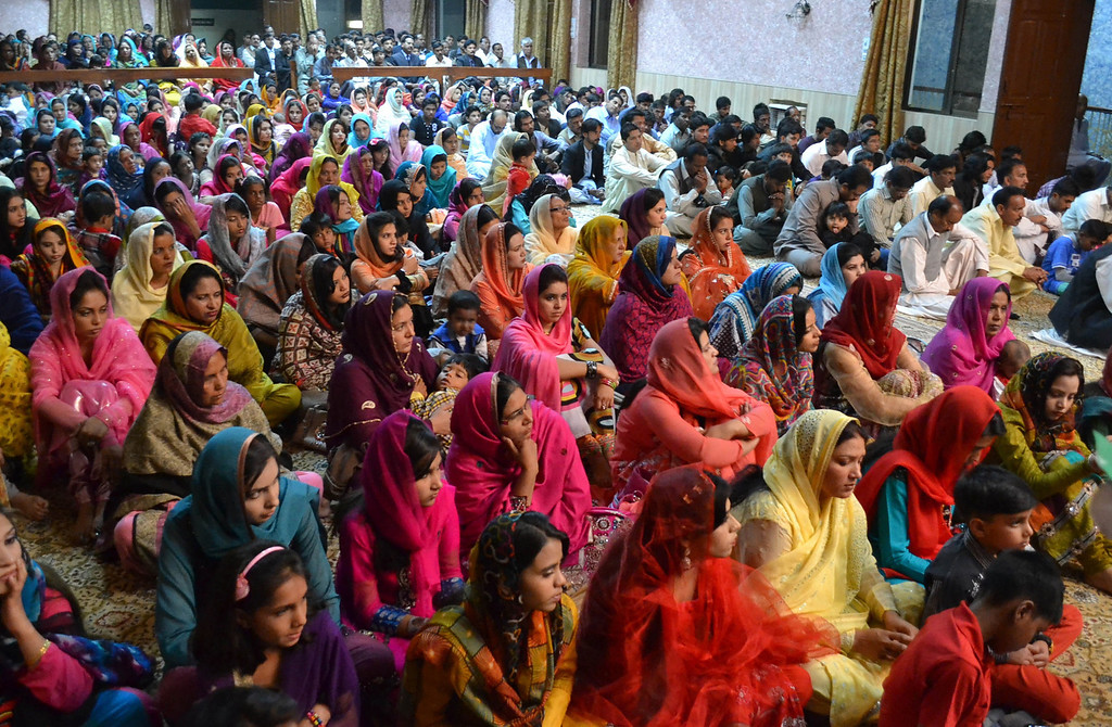 """. Minority Pakistani Christians attend Easter mass at a church in Quetta on April 20, 2014. Pope Francis called on Catholics to bring the message of God \""""to the very ends of the earth\"""" during an Easter vigil mass in St Peter\'s Basilica.   BANARAS KHAN/AFP/Getty Images"""