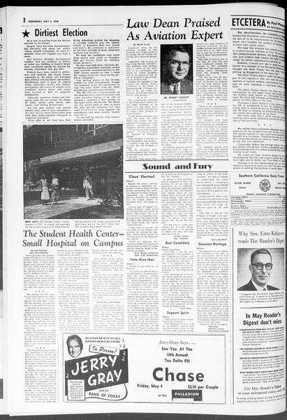 Daily Trojan, Vol. 47, No. 125, May 02, 1956