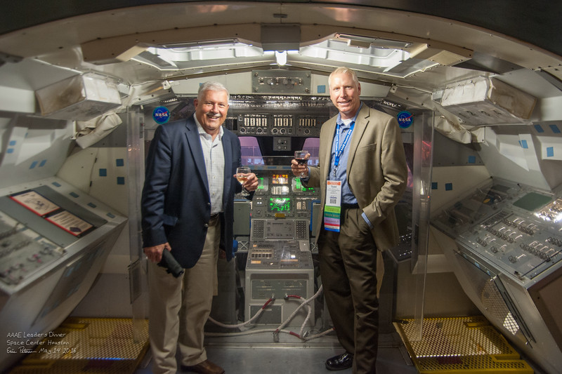 Robert Olislagers and Todd McNamee enjoing the Space Shuttle.